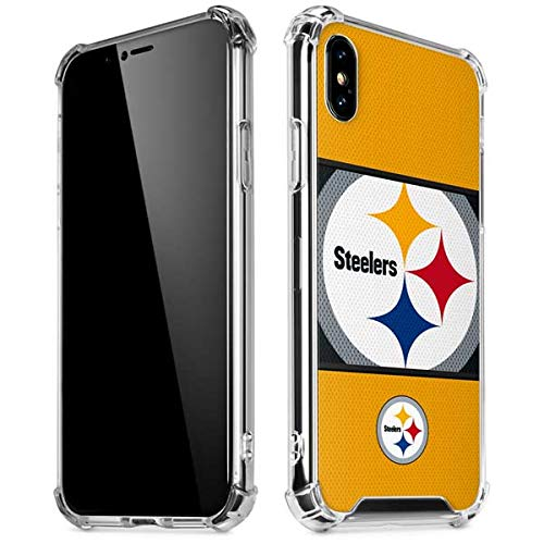 Amazon.com  Skinit Pittsburgh Steelers Zone Block iPhone XR Clear ... 868dfc549