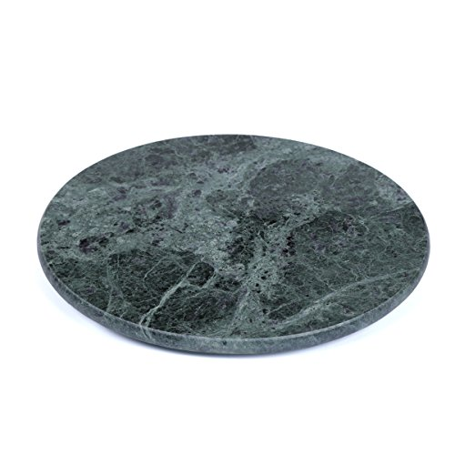 Green Round Platter (Creative Home Genuine Marble Stone 12