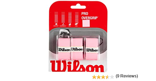 Wilson Pro Overgrip - Juego de 3 grips para raqueta de tenis, rosa: Amazon.es: Deportes y aire libre