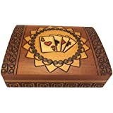 Double Deck Playing Card Box Polish Handmade Wood Keepsake Box