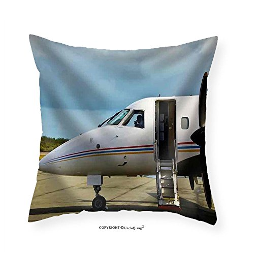 Red Arrows Plane (VROSELV Custom Cotton Linen Pillowcase Private Propeller Plane Waiting for the Client - Fabric Home Decor 14