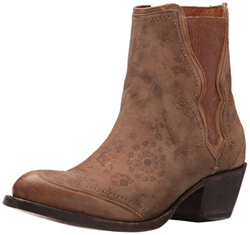 Lucchese Bootmaker Women's Gia Ankle Boot, Natural Printed, 7.5 B US - Lucchese Natural
