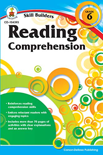 Reading Comprehension, Grade 6 (Skill Builders) from Carson-Dellosa