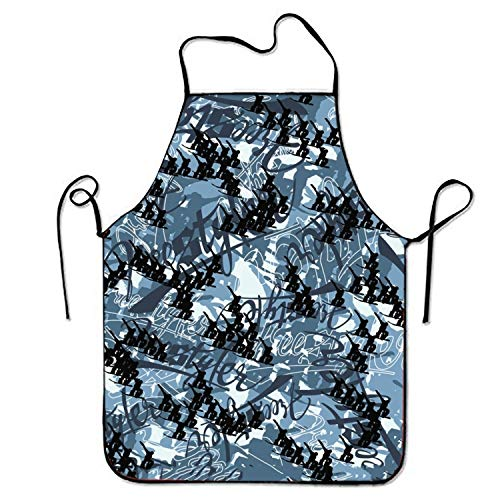 bearbeey Bib Apron Snowboard Freestyle for Crafting Stitched Edges