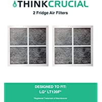 Think Crucial 2 LG LT120F Air Purifying Fridge Filters, Part # ADQ73334008 & ADQ73214404