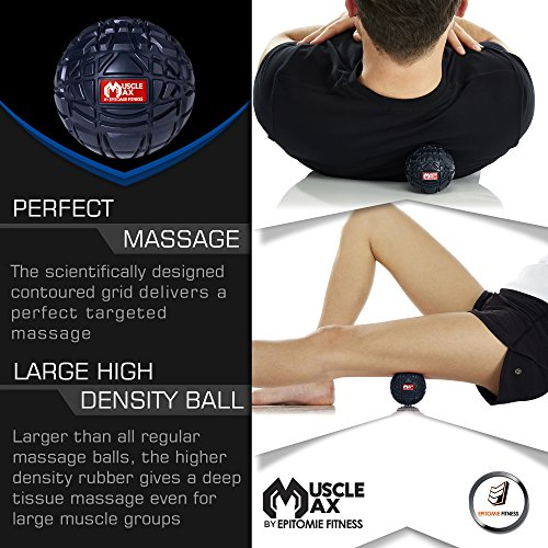 Trigger-Point-Massage-Ball--Large-32-500lb-Rated-with-Travel-Bag--Deeper-Tissue-Massage-than-Lacrosse-Ball--Back-Pain-Neck-Relief-Foot-Roller-Plantar-Fasciitis-Myofascial-Release-Therapy