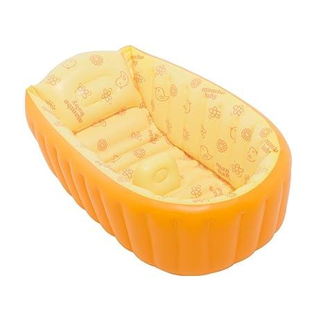 & bañera Plegable Bañera Inflable Bañera para bebés Lavabo ...