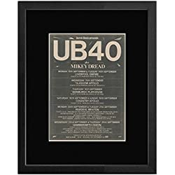 UB40 - September 1982 UK Tour Dates Framed and Mounted Print - 53x43cm