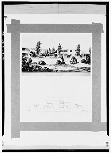Drawing and plan of commercial center. Greenbelt, Maryland by Historic Photos