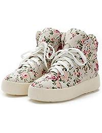 Flowers Platform Women Shoes Lace Up Print Lady Woman Flat Casual Canvas Shoes Trainers