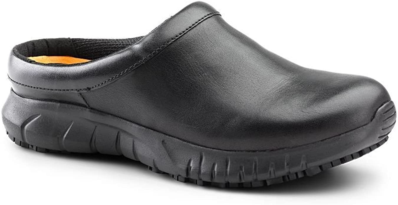 Patron Black Slip Resistant Work Clogs