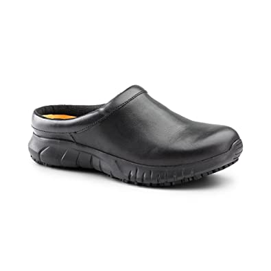 SureGrip Women's Patron Black Slip Resistant Work Clogs
