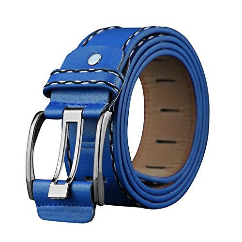 Sale! Teresamoon Fashion Mens Leather Smooth Girdle Buckle Waistband Waistband Leisure Belt Strap