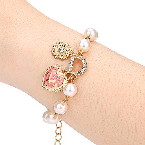 (Elegant Bracelet,Caopixx Women's Flowers Bracelet Crystal Alloy Geometric Type Bracelet (Silver, Alloy))