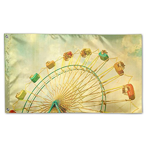 Garden Flag Ferris Wheel Outdoor Yard Home Flag Wall Lawn Ba