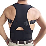 Back & Lumbar Support Brace by NONPAREIL - Improve Posture & Relieve Lower Thoracic, Neck & Spine Pain & Pressure - X Large (Waist 37-40), Black