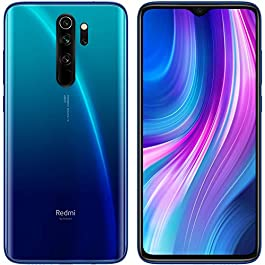 Xiaomi Redmi Note 8 Pro (64GB, 6GB) 6.53″, 64MP Quad Camera, Helio G90T Gaming Processor, Dual SIM GSM Unlocked – US & Global 4G LTE International Version (Ocean Blue, 64 GB)