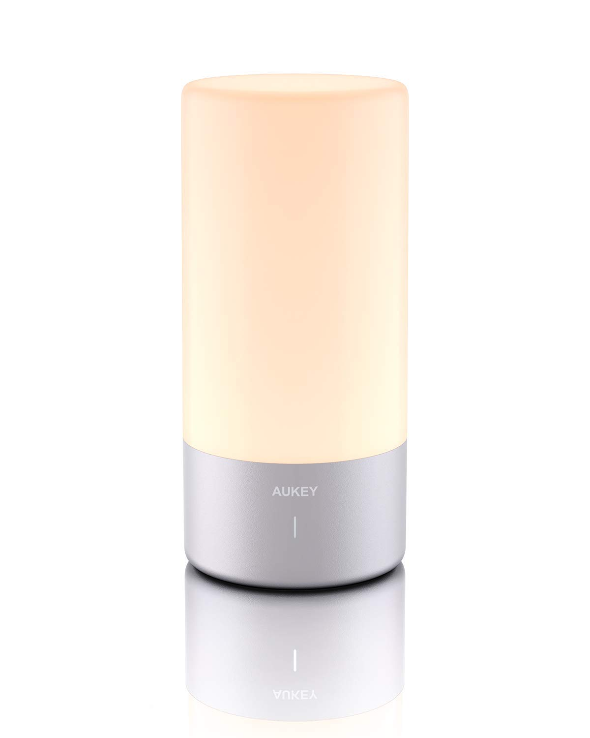 AUKEY Table Lamp Touch Sensor Bedside Lamp Color Changing RGB & Dimmable Warm White Light Night Light for Bedrooms, Living Rooms and Office【2021 Updated Version】
