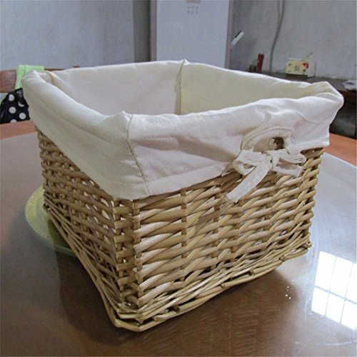 Wicker Rattan Bamboo Storage Baskets Creative fashion pure hand-woven home decoration products,C,32X19.5cm by EXDJ (Image #1)