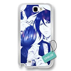 Onelee(TM) Black Butler Soft Hard (PC) For Case Ipod Touch 4 Cover & Cover - White Hard