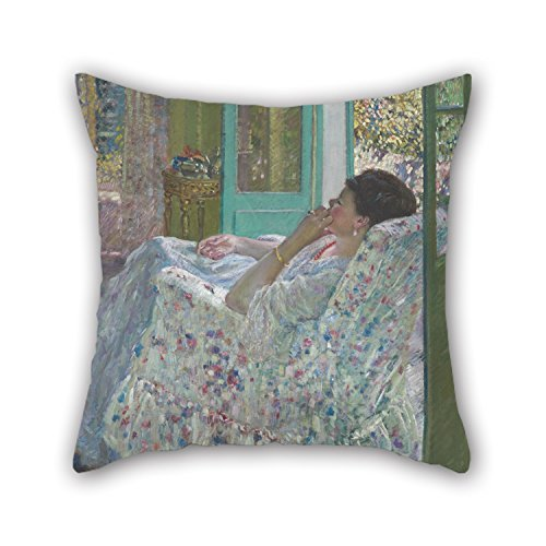 Uloveme Throw Pillow Covers Of Oil Painting Frieseke, Frederick Carl - Afternoon - Yellow Room 16 X 16 Inches / 40 By 40 Cm,best Fit For Her,teens,drawing Room,bar,kids Girls,kitchen Twin Sides