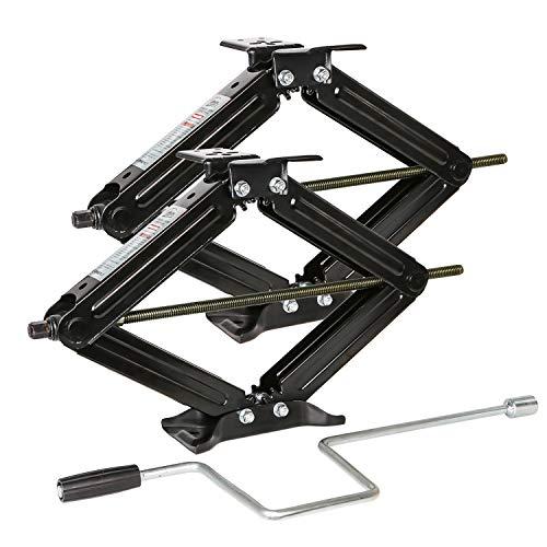 WEIZE Set of 2 5000lbs Camper Trailer Stabilizer Leveling Scissor