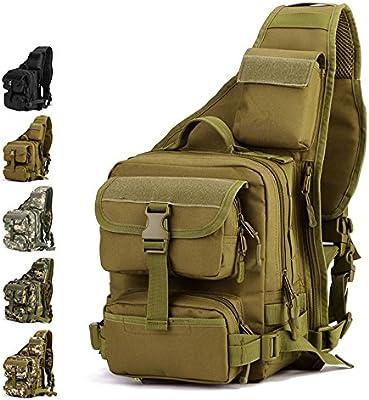 YFNT Tactical Sling Bag Pack Militar Rover Hombro Sling Mochila Crossbody Bolsa para La Caza Camping Senderismo, marrón: Amazon.es: Deportes y aire libre