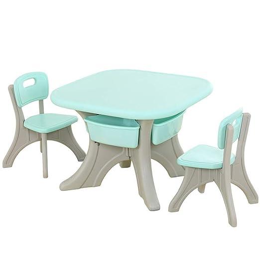 Pupitre de niño Niño mesas sillas tabla taburete de plástico bebé ...