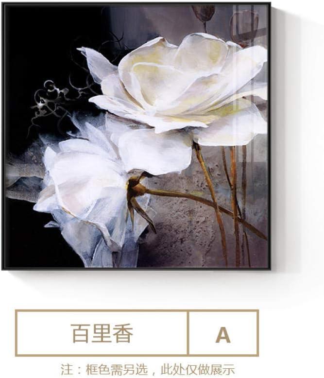 T-YIFUZX Elegante Saturna Camelia Carteles Cuadrados y Las Impresiones Arte de Pared para Sala de Estar Dormitorio Pasillo hogar Decoración Lienzo Arte pintura-60x60m_ (No_Frame) _A