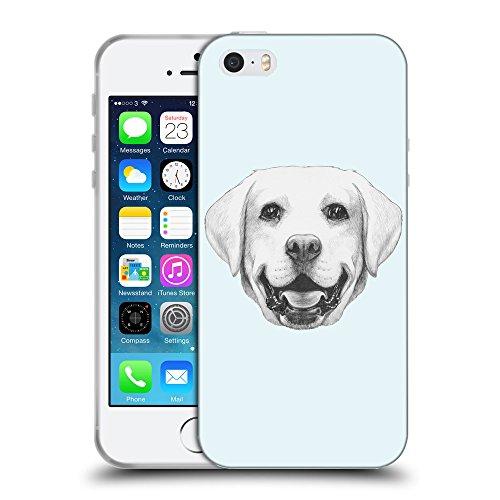 GoGoMobile Coque de Protection TPU Silicone Case pour // Q05370619 Portrait labrador Bulles // Apple iPhone 5 5S 5G SE