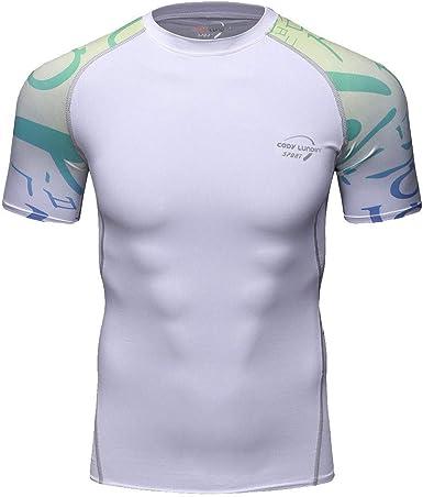 MOTOCO Camiseta de Manga Corta para Hombre/Yoga Fitness ...