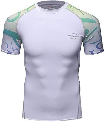 MOTOCO Camiseta de Manga Corta para Hombre/Yoga ...