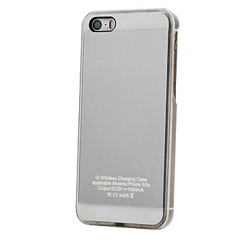 TEFIRE - Funda de Cargador inalámbrico Qi para iPhone 5/5S ...