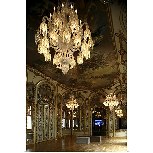 GREATBIGCANVAS Poster Print Entitled Crystal Chandeliers in The Main Hall of Galerie-Musee Baccarat, Paris, France by Bruce Yuanyue Bi 12
