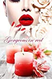 Global Printing Services Nail Salon Poster - Glossy Bold Red Lip Red Lilly Flower Candle Nails & Spa Salon Manicure & Beautiful Model Poster || NSD-042 (36in x 54in, Poster (Polymatte))