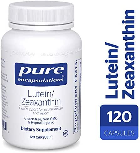 Pure Encapsulations - Lutein/Zeaxanthin - High Strength Blend for Macular Suport and Overall Visual Functioning* - 120 Capsules