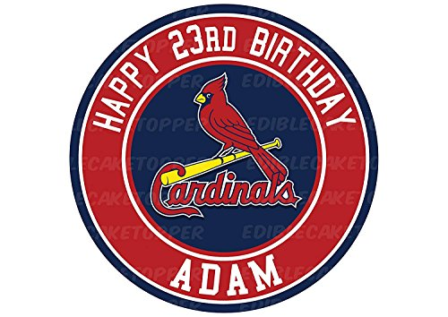 EdibleInkArt St. Louis Cardinals Edible Cake Topper Personalized Birthday 6