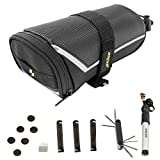 ezyoutdoor Bicycle Repair Tool Kit - Bicycle Tail Tool Saddle Bag, Bike Mini Tire Pump, Bike Tyre Tool,7 in 1 Multi-use Repair Tool Kit,Glueless Patch Kit,Multi-function Bicycle Repair Tools Kit