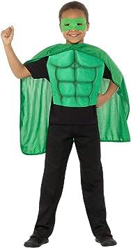Capa de superhéroe comic con antifaz y peto / Verde L, 10 - 12 ...