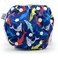 Nageuret Reusable Cloth Swim Diaper, Adjustable & Stylish...