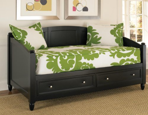 Home Styles 5531-85 Bedford Daybed with Storage, Black - Used Daybeds