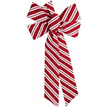 Forum Novelties Candy Cane Striped Bow-17in