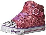 Skechers Kids Girls' Shuffles-Sweetheart Sole Sneaker,Pink,5 M US Toddler