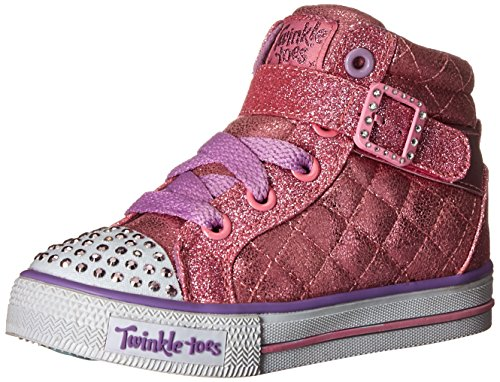 Skechers Kids Girls' Shuffles-Sweetheart Sole Sneaker, Pink, 8 M US Toddler