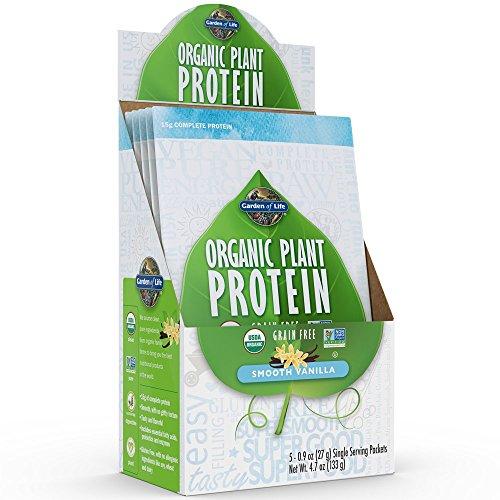 Garden of Life Organic Protein Powder - Vegan Plant-Based Protein Powder, Vanilla, 5 Count Tray
