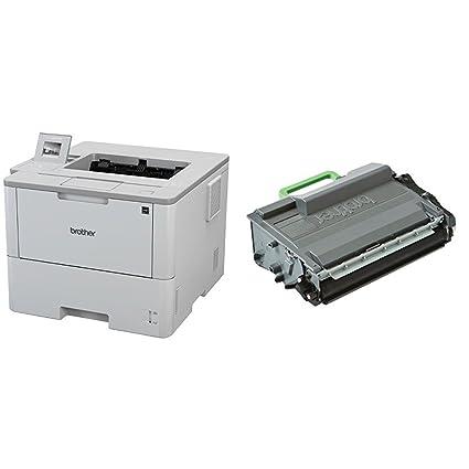 Brother HL-L6300DW - Impresora láser profesional monocromo (520 hojas, 46 ppm, USB 2.0, doble cara automática, Ethernet, Wifi) + Brother TN3512 - ...