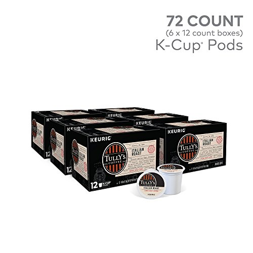 Tully's Coffee, Italian Roast, Single-Serve Keurig K-Cup Pods, Dark Roast Coffee, 72 Count (3 Boxes of 24 Pods) by Keurig (Image #1)