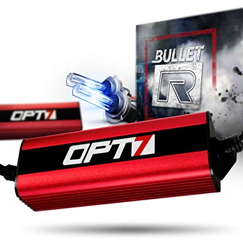 OPT7 Bullet-R H7 HID Kit - 3X Brighter - 4X Longer Life - All Bulb Sizes and Colors - 2 Yr Warranty [6000K Lightning Blue Xenon Light]