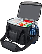 Lunch Bag for Men, Leakproof Cooler with 5 Pockets, Large Insulated Lunch Bag for Men for Work Traveling by F40C4TMP