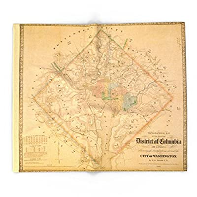 Society6 Civil War Washington D.C. Map Blanket